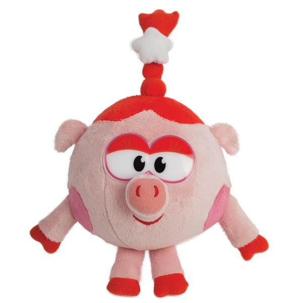 Озвученная мягкая игрушка - Нюша из мультфильма - Смешарики, 10 см