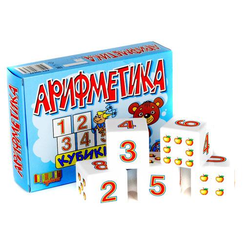 Кубики - Арифметика, 12 штукКубики<br>Кубики - Арифметика, 12 штук<br>