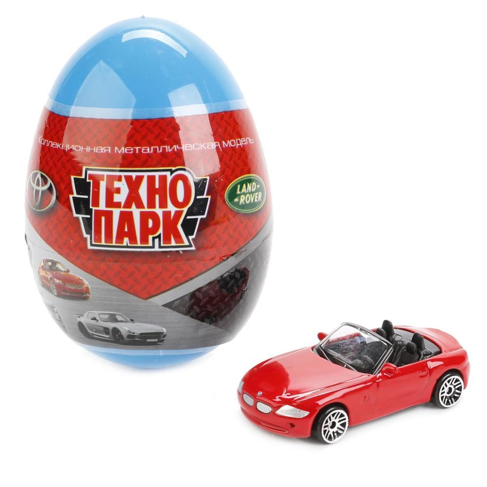 Купить Металлическая машина-сюрприз в яйце - Иномарка, 7, 5 см, Технопарк