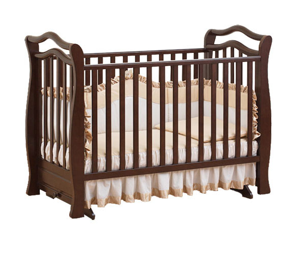 Кроватка для новорожденных Magico, шоколаднаяДетские кровати и мягкая мебель<br>Кроватка для новорожденных Magico, шоколадная<br>