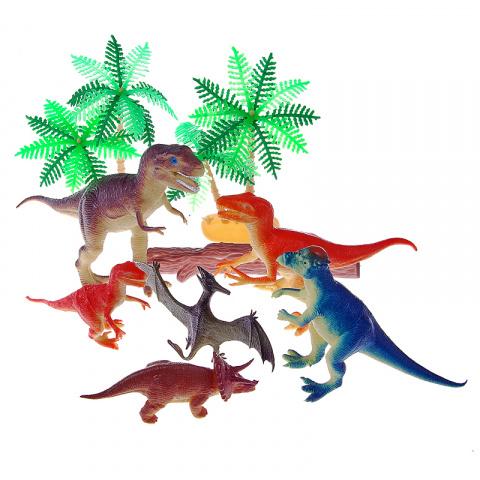 Купить Набор В мире животных – Динозавры с аксессуарами, 10 штук, 1TOY
