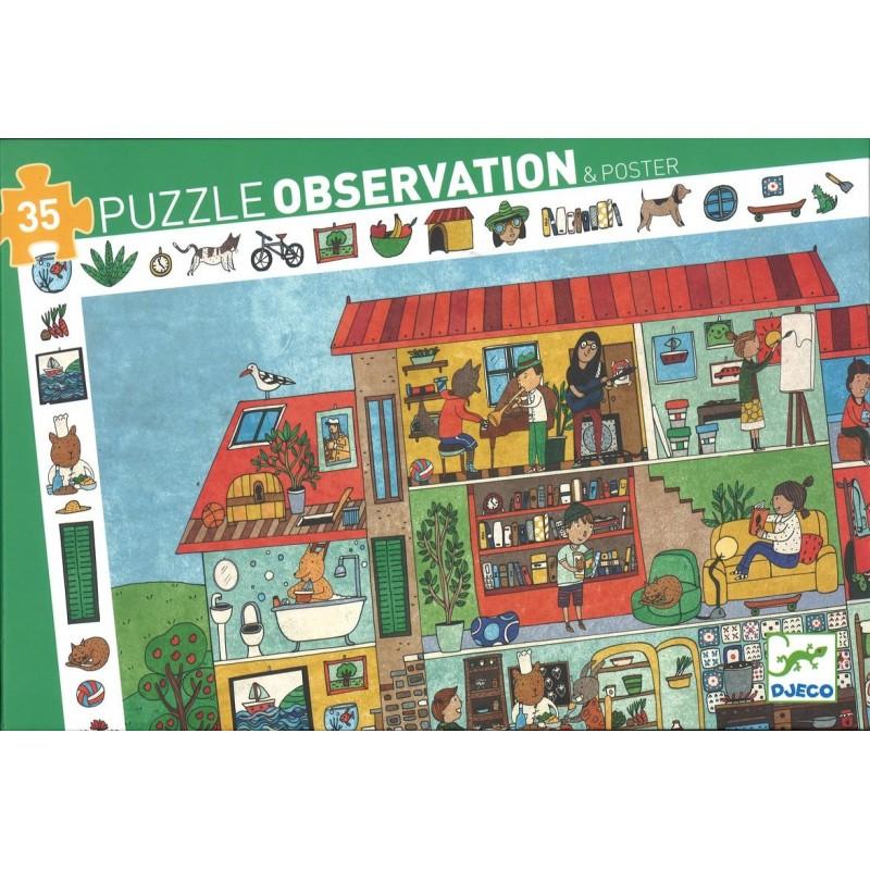 Купить Пазл и игра на наблюдательность Дом, Djeco
