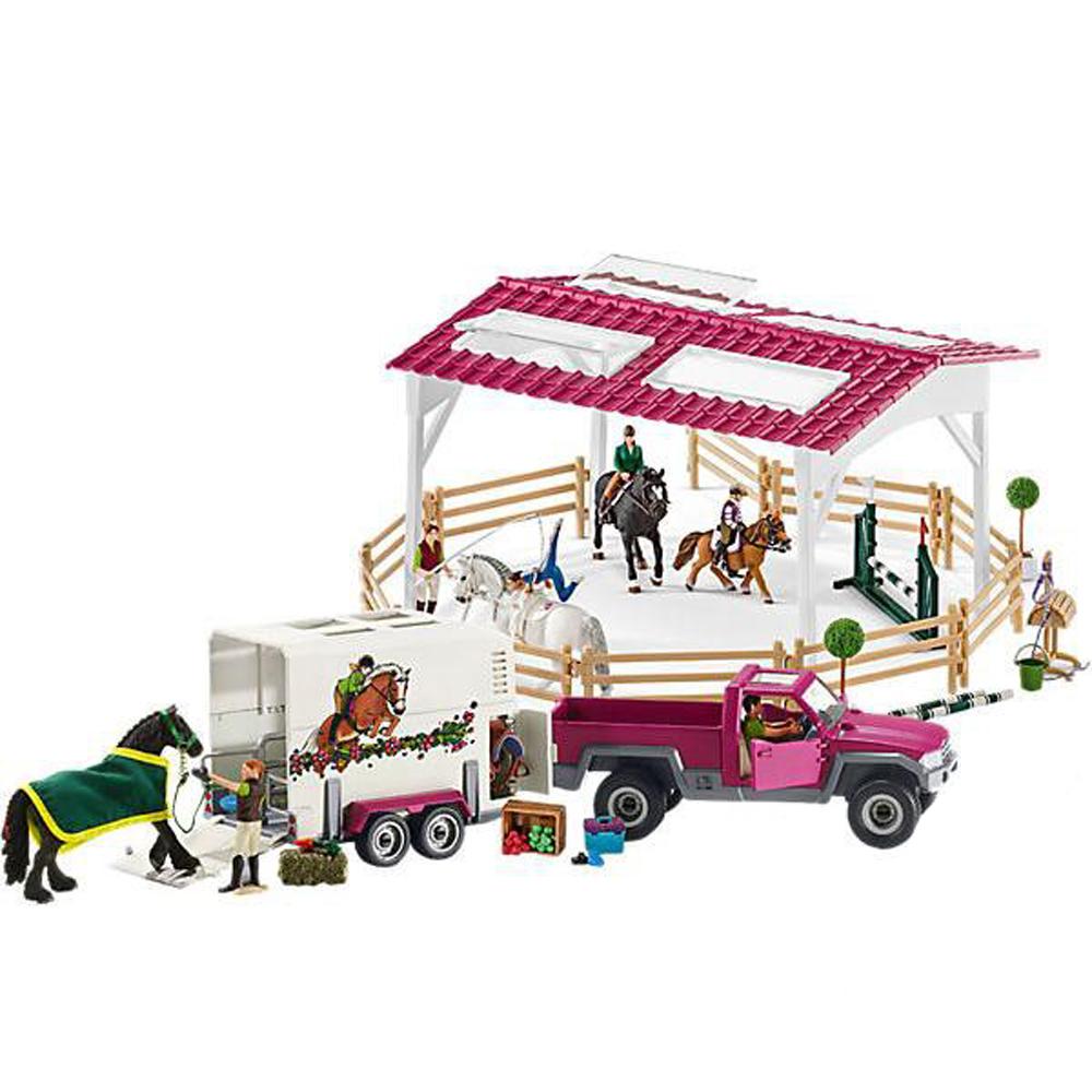 Школа верховой езды с пикапом и фургоном для лошадиЛошади (Horse)<br>Школа верховой езды с пикапом и фургоном для лошади<br>