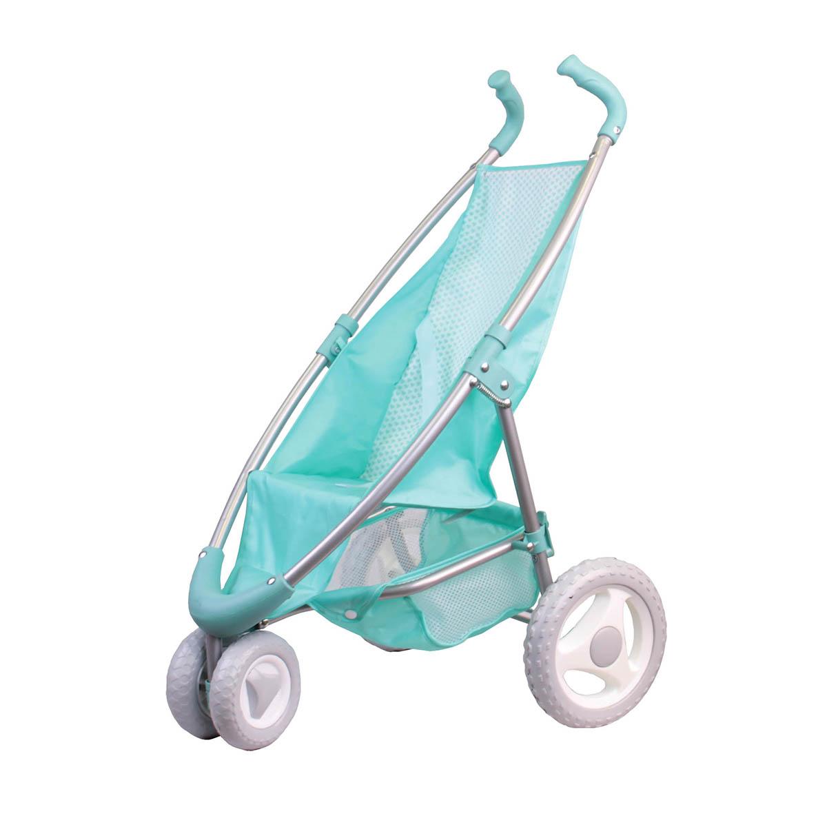 Коляска прогулочная мятная с поворотными передними колесамиКоляски для кукол<br>Коляска прогулочная мятная с поворотными передними колесами<br>