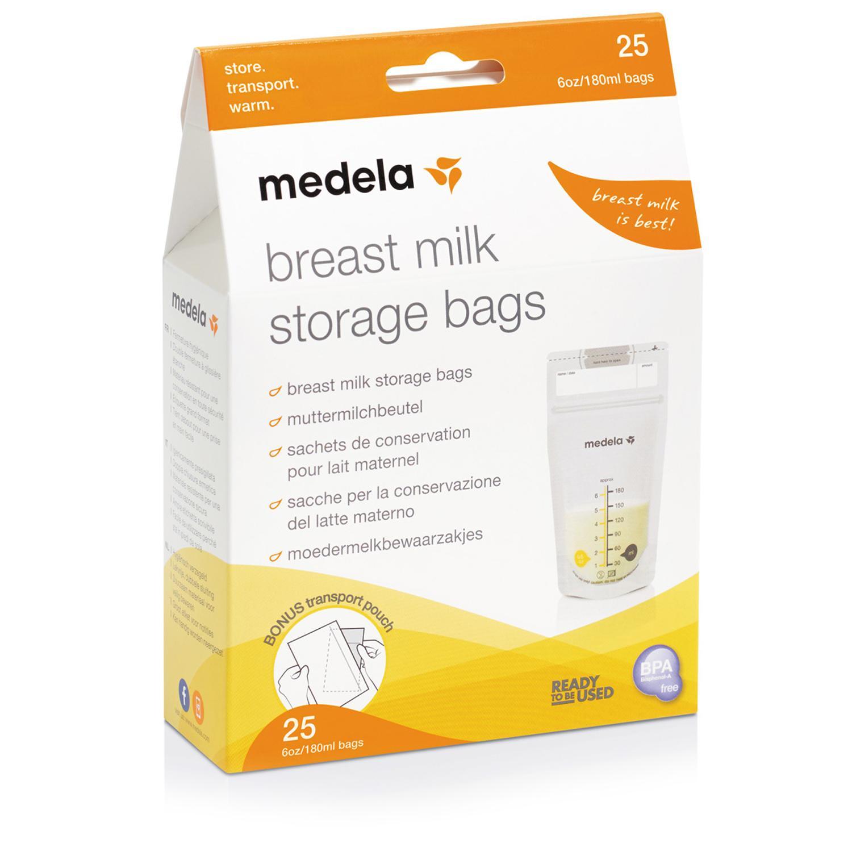 Одноразовые пакеты для хранения грудного молока, 25 шт