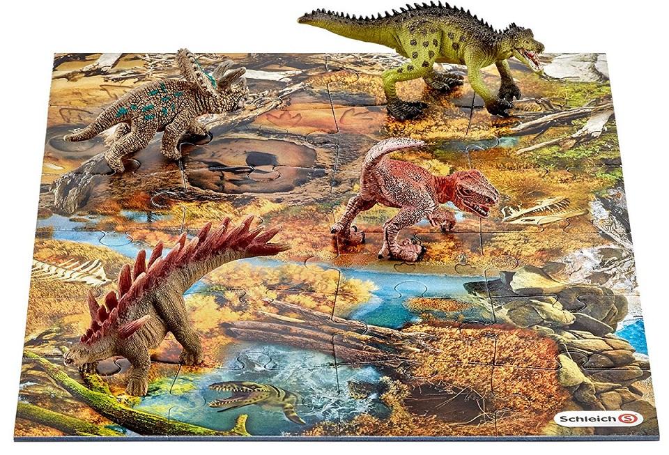 Игровой набор с фигурками мини-динозавров и пазлом ЗаводьЖизнь динозавров (Prehistoric)<br>Игровой набор с фигурками мини-динозавров и пазлом Заводь<br>