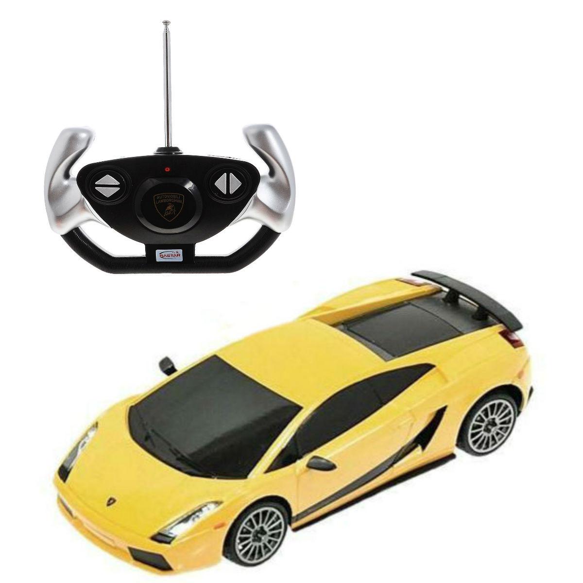 картинка Машина на р/у - Lamborghini, цвет желтый, 1:14 от магазина Bebikam.ru
