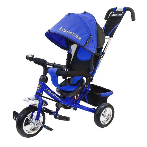 Купить Велосипед 3-х колесный с ручкой управления - Lexus Trike, синий, колеса EVA