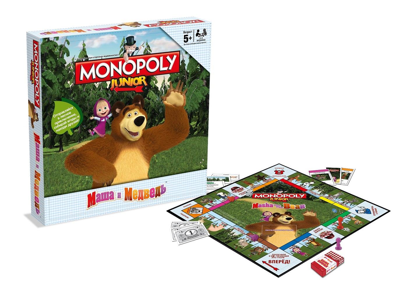 Игра настольная Монополия  Маша и Медведь - Монополия, артикул: 174174