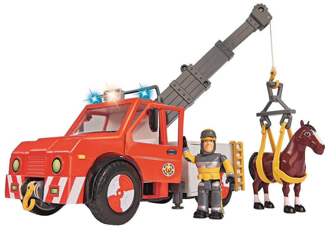 Игровой набор - Пожарный Сэм Машина - Феникс с фигуркой пожарного и лошадьюПожарный СЭМ<br>Игровой набор - Пожарный Сэм Машина - Феникс с фигуркой пожарного и лошадью<br>
