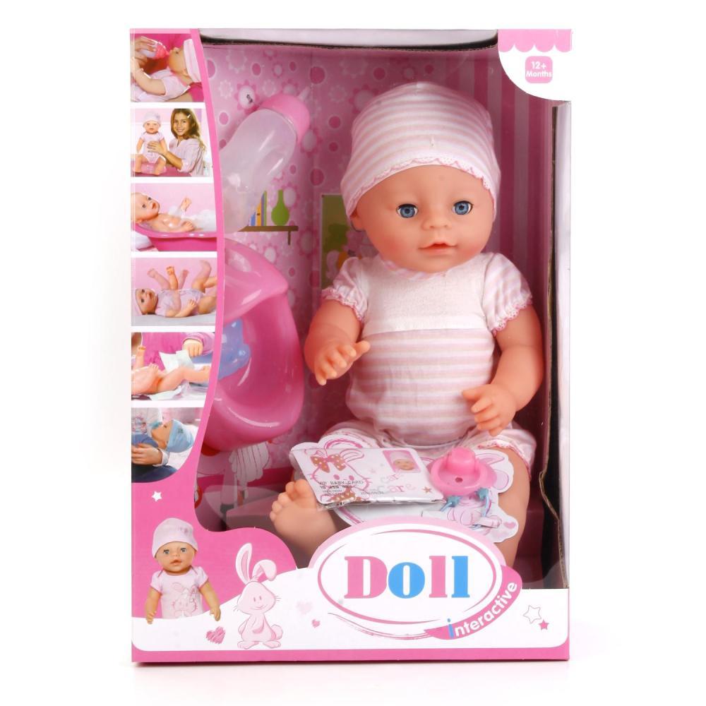 Купить Интерактивный пупс Doll 43 см, пьет и писает, с аксессуарами
