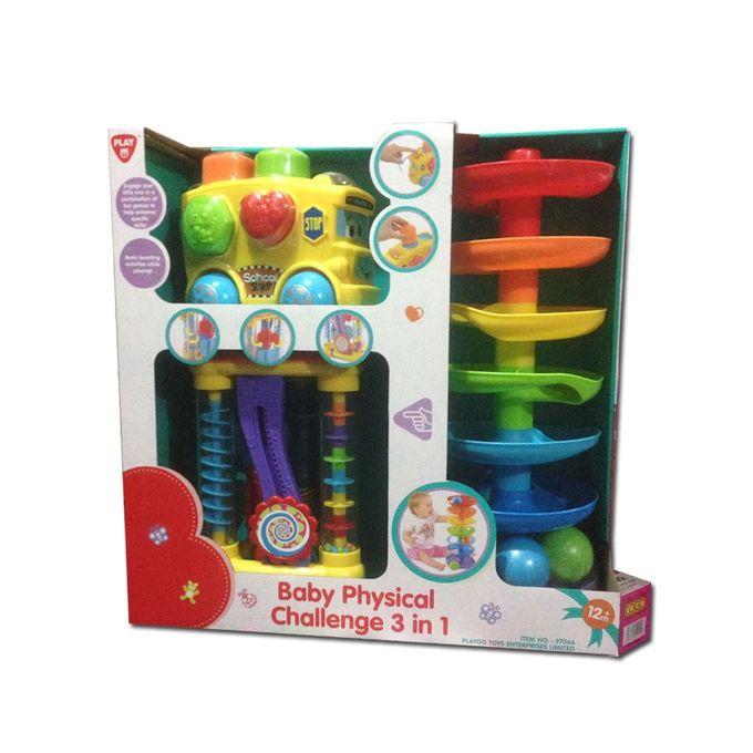 Набор развивающих игрушек: лабиринт, автобус-сортер и треугольникСортеры, пирамидки<br>Набор развивающих игрушек: лабиринт, автобус-сортер и треугольник<br>