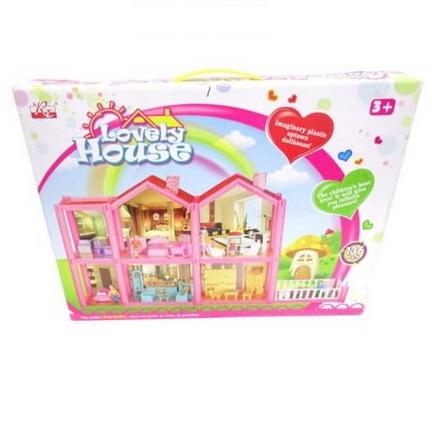 Домик кукольный - Lovely House, 136 предметов в набореКукольные домики<br>Домик кукольный - Lovely House, 136 предметов в наборе<br>