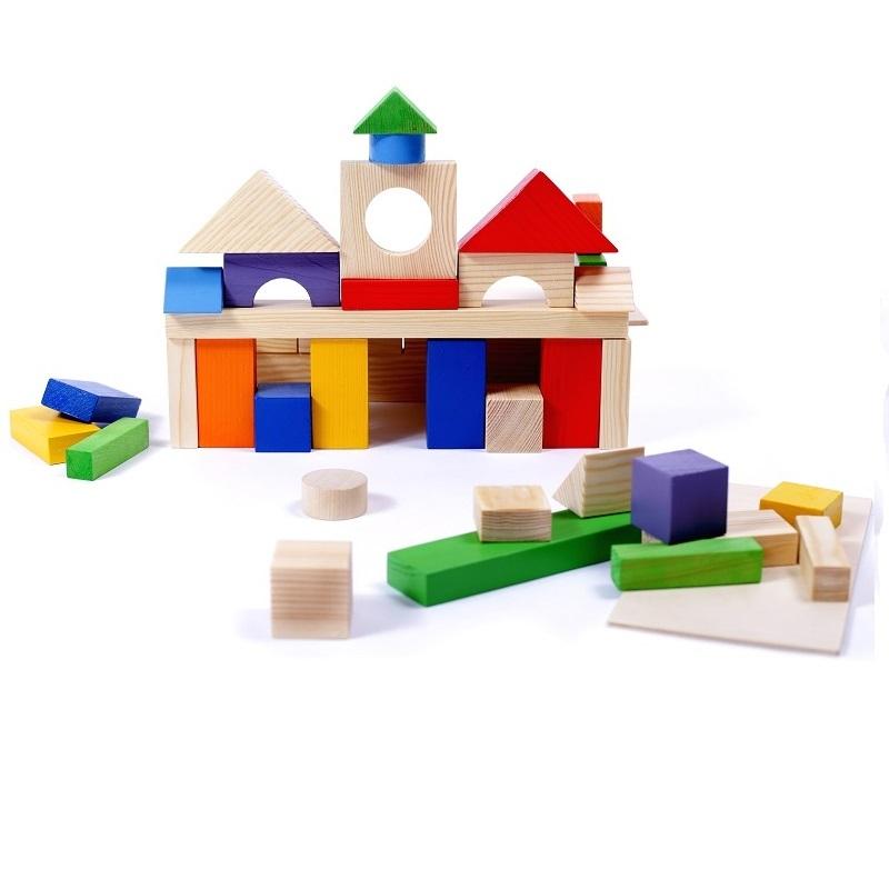 Деревянный конструктор, 51 деталь, окрашенный, в пакете, Paremo  - купить со скидкой