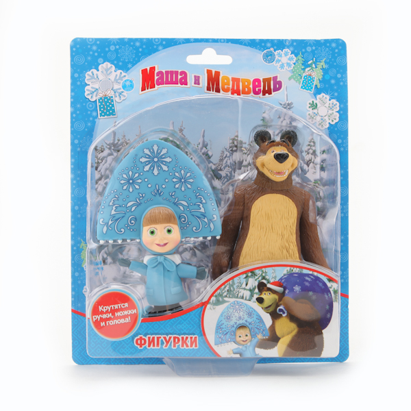 Набор фигурок «Маша и медведь»: Медведь и Маша-СнегурочкаМаша и медведь игрушки<br>Набор фигурок «Маша и медведь»: Медведь и Маша-Снегурочка<br>