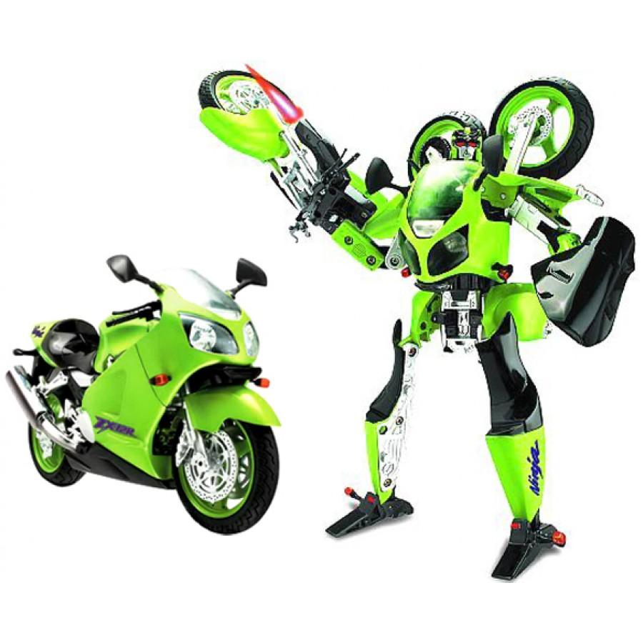 Робот Galaxy Defender мотоцикл Kawasaki 1:10, на батарейках, со светом и аксессуарамиИгрушки трансформеры<br>Робот Galaxy Defender мотоцикл Kawasaki 1:10, на батарейках, со светом и аксессуарами<br>