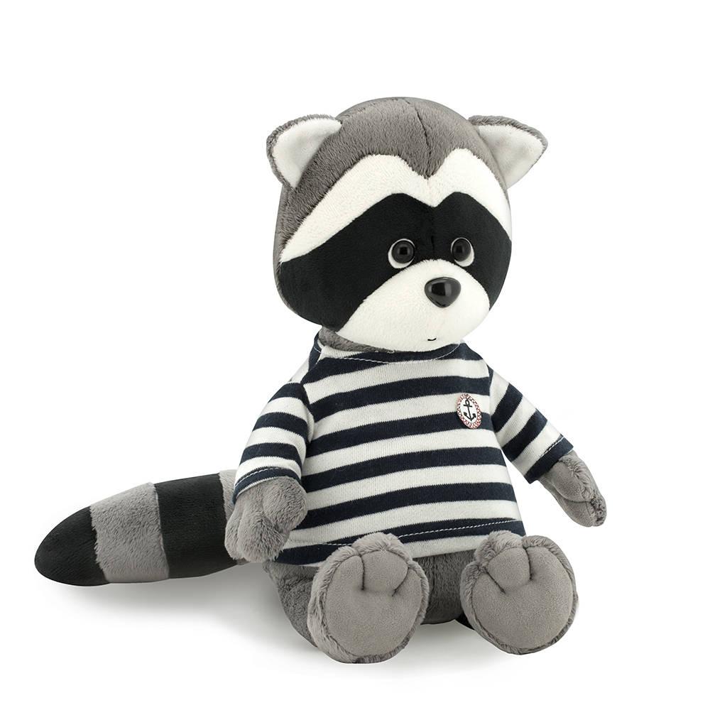 Мягкая игрушка - Енотик Дэнни в тельняшкеЖивотные<br>Мягкая игрушка - Енотик Дэнни в тельняшке<br>