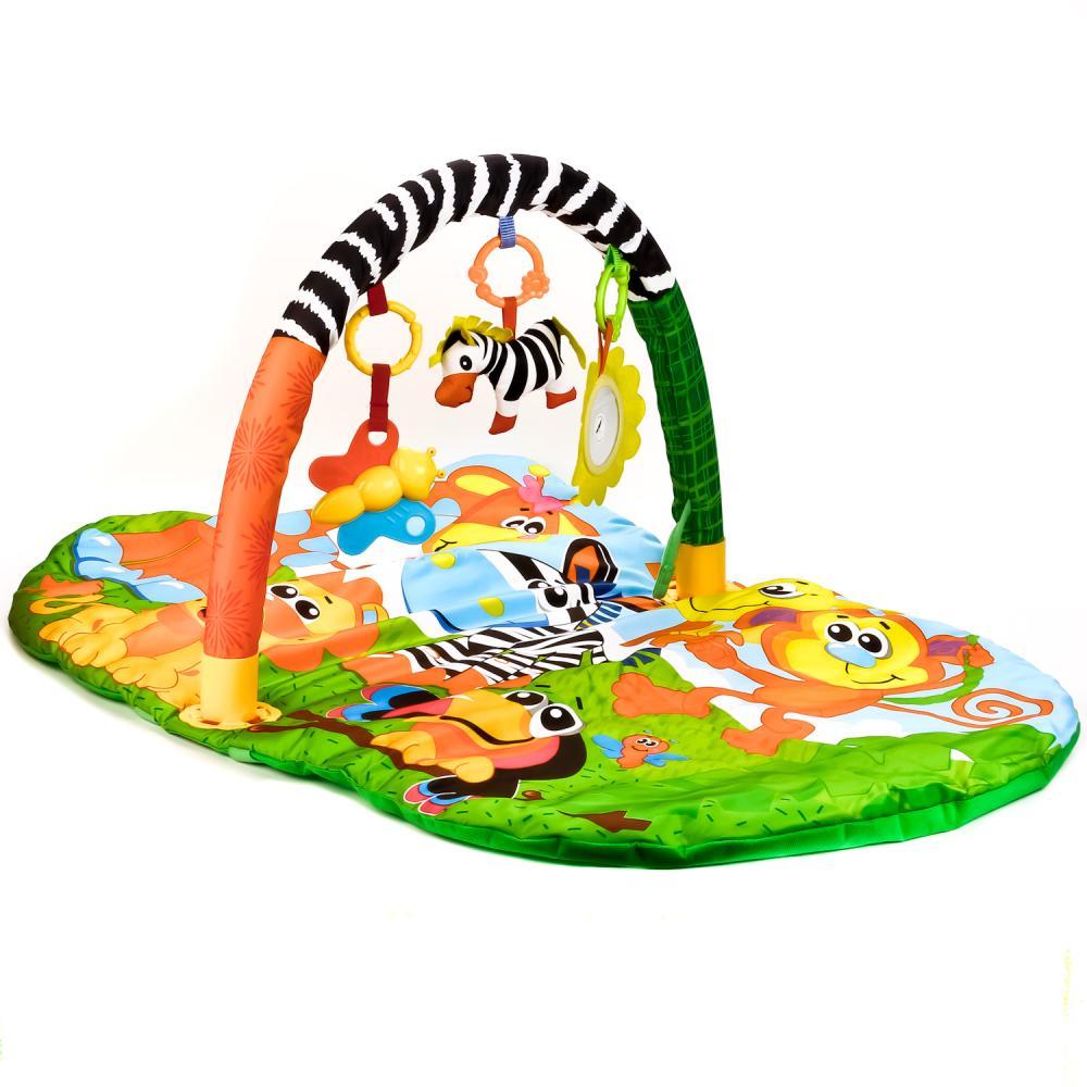 Купить Детский игровой коврик - Животные Африки, с мягкими игрушками на подвеске, Умка