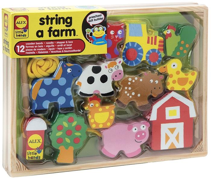 Купить Игра развивающая деревянная - Домик в деревне, 12 фигурок, от 3 лет, Alex