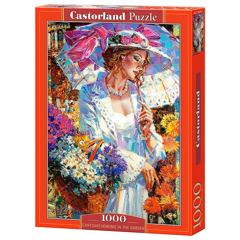 Пазл Castorland 1000 деталей, ХризантемыПазлы 1000 элементов<br>Пазл Castorland 1000 деталей, Хризантемы<br>