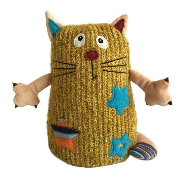 Мягкая игрушка Кот Котейка желтый, 15 см.Коты<br>Мягкая игрушка Кот Котейка желтый, 15 см.<br>