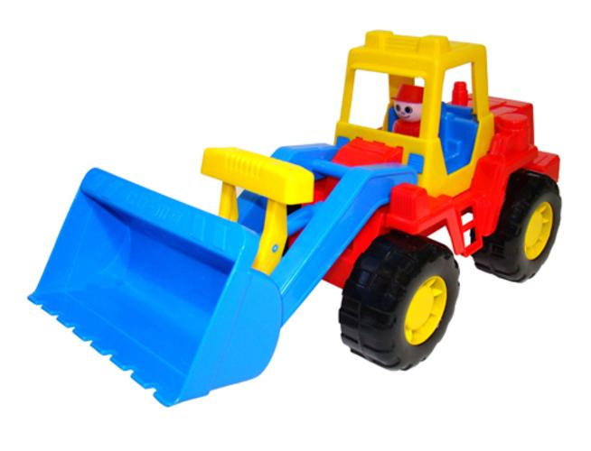 Игрушечный трактор-погрузчик, ТехникИгрушечные тракторы<br>Игрушечный трактор-погрузчик, Техник<br>