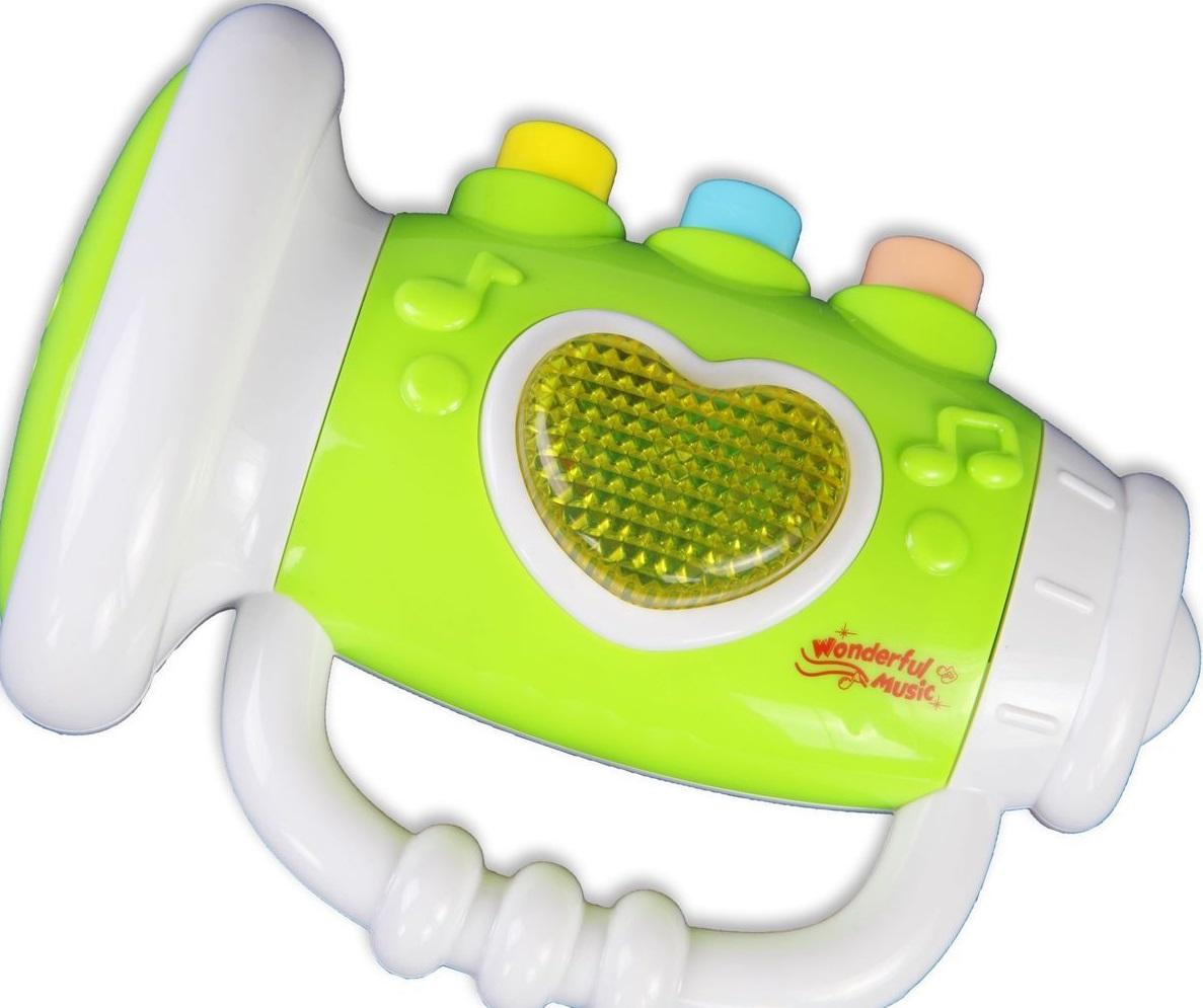Игрушка музыкальная для малышей – Труба, с подсветкой и звуками - Духовые инструменты, артикул: 166279