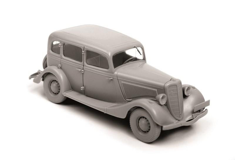 Модель сборная. Советский автомобиль ГАЗ М1Модели автомобилей для склеивания<br>Модель сборная. Советский автомобиль ГАЗ М1<br>