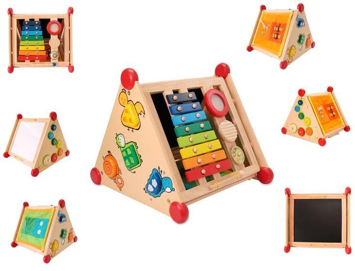 5-в-1 развивающий центр. Играем, рисуем, изучаем - Деревянные игрушки, артикул: 7716