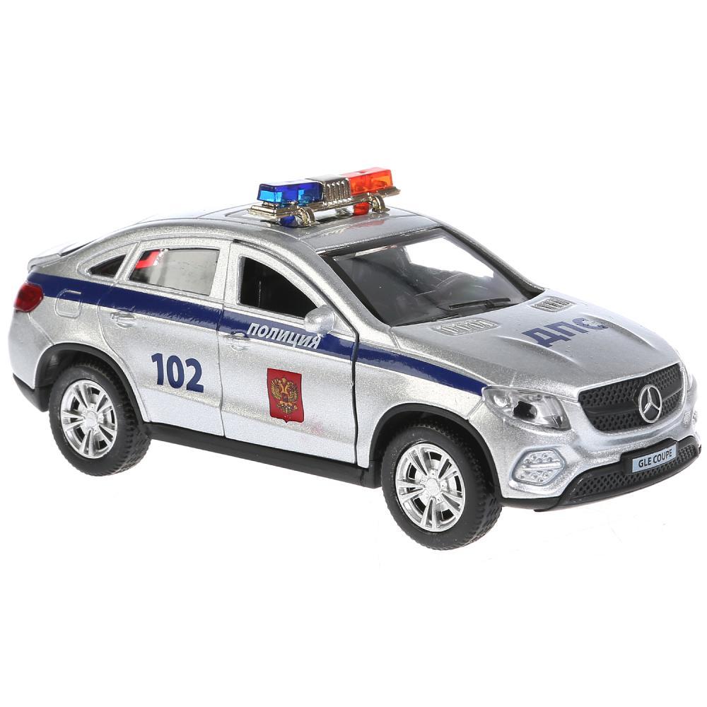 Купить Машина металлическая Mercedes-Benz Gle Coupe Полиция, 12 см., свет и звук, инерционная, Технопарк