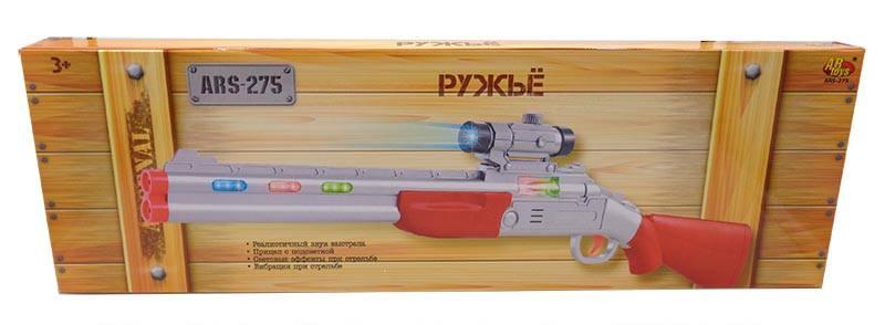 Ружье с прицелом, электромеханическое, со световыми и звуковыми эффектамиАвтоматы, пистолеты, бластеры<br>Ружье с прицелом, электромеханическое, со световыми и звуковыми эффектами<br>