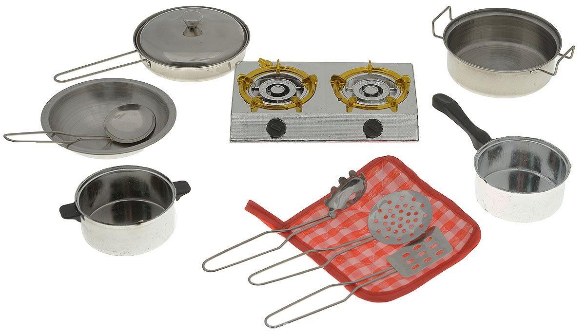 Набор посуды для кухни, 11 предметовАксессуары и техника для детской кухни<br>Набор посуды для кухни, 11 предметов<br>