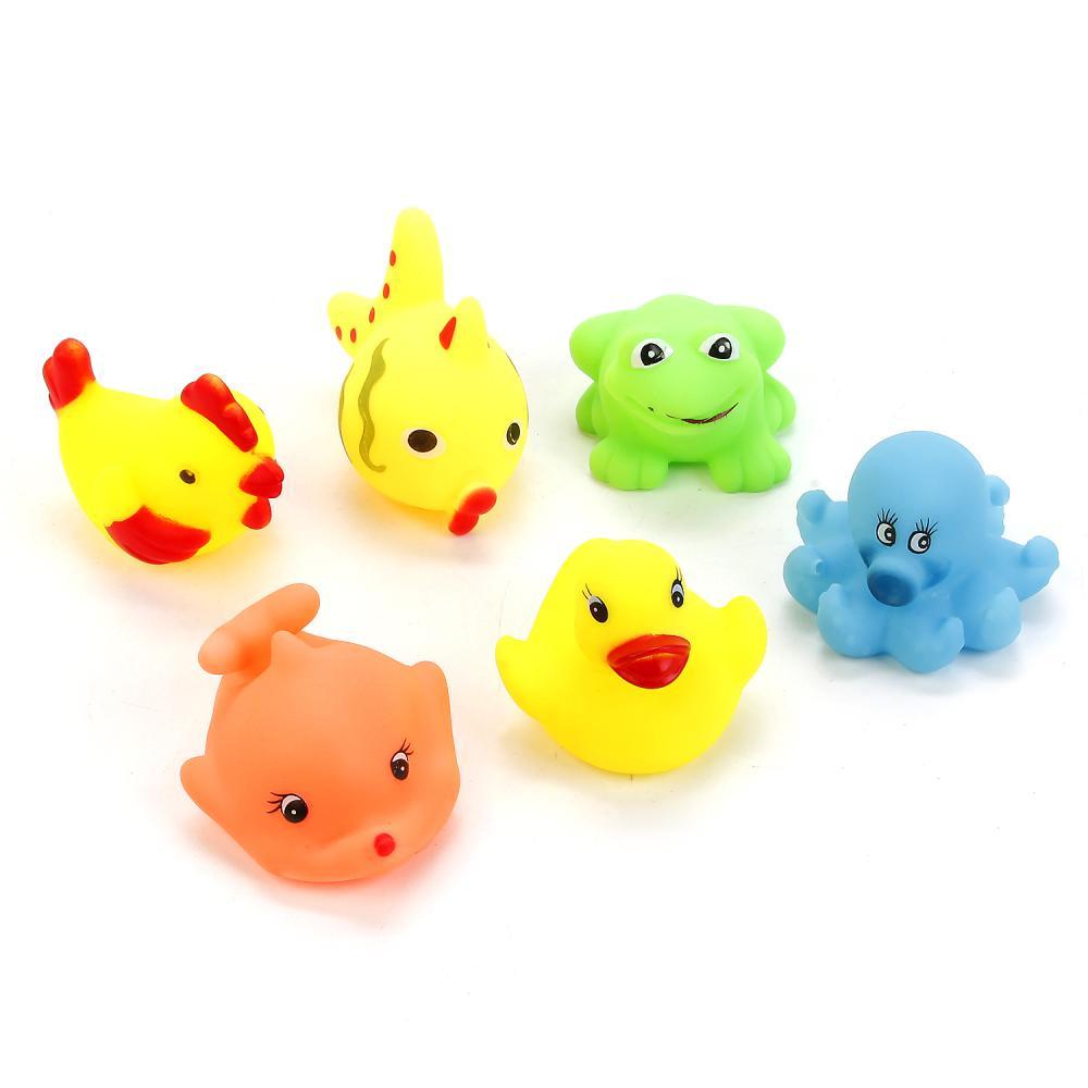 Купить со скидкой Игрушки для ванной - 6 водных обитателей