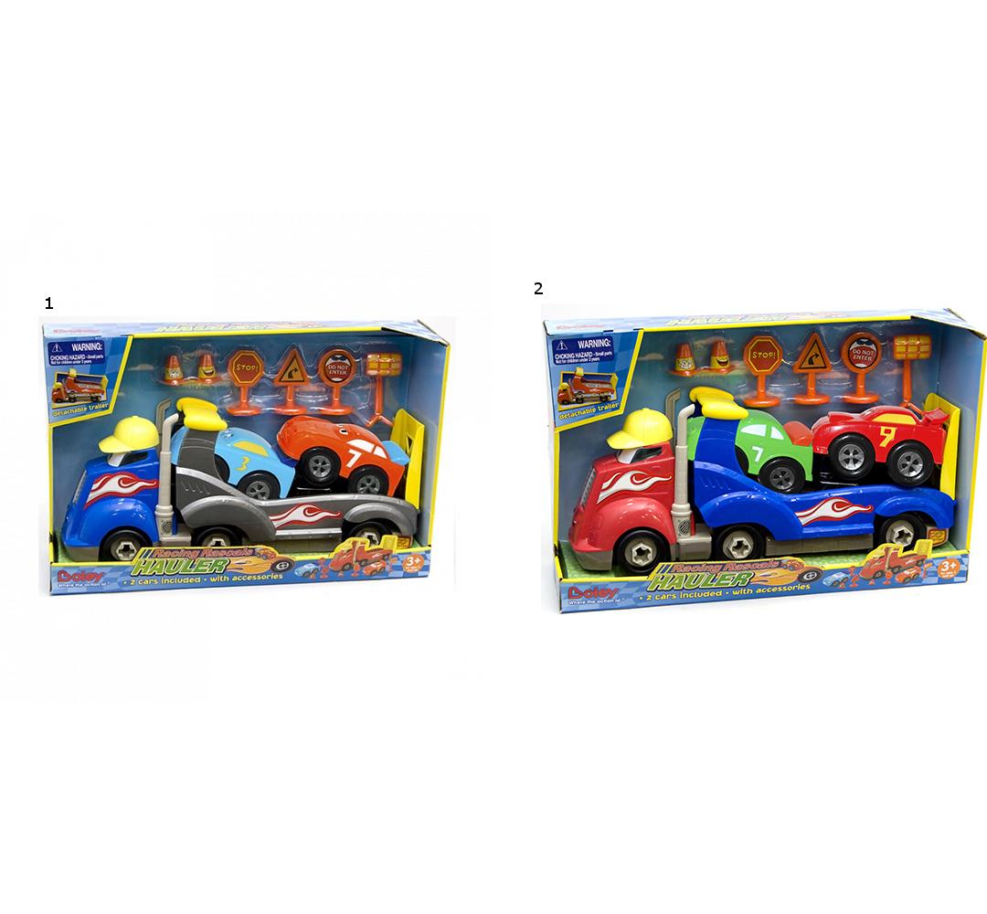 Подарочный набор - Автовоз Смелый гонщик, 2 видаТрейлеры<br>Подарочный набор - Автовоз Смелый гонщик, 2 вида<br>
