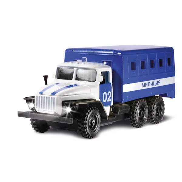 Машина Технопарк ЗИЛ 130 будка полиция X600-H09128-R