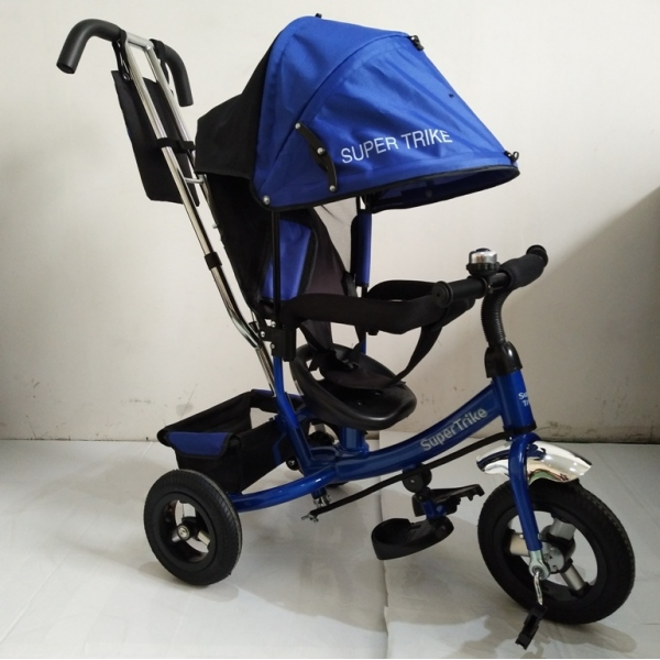Велосипед Supertrike, 3-х колёсный с ручкой - Велосипеды детские, артикул: 162103
