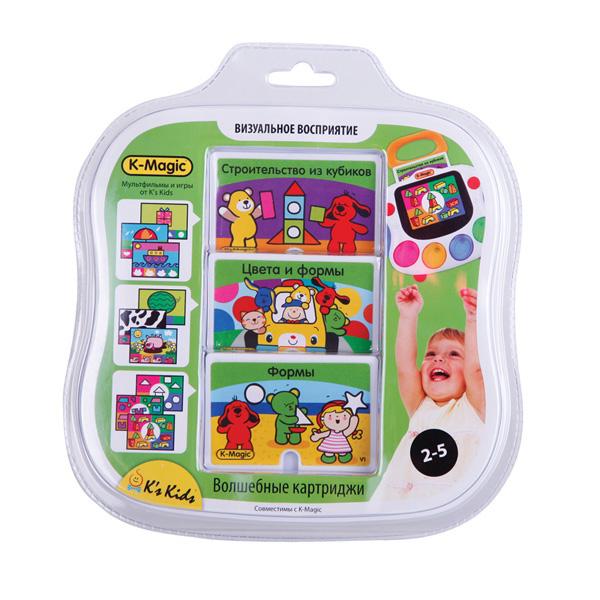 Набор картриджей Визуальное восприятие K-MagicРазвивающие игрушки K-Magic от KS Kids<br>Набор картриджей Визуальное восприятие K-Magic<br>