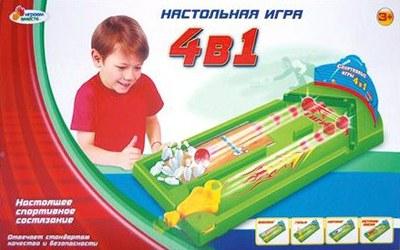 Детская настольная игра «4-в-1» от Toyway