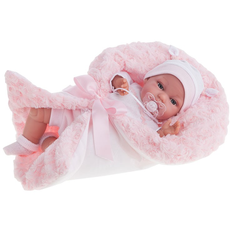 Озвученная кукла Вита в розовом, 34 смКуклы Антонио Хуан (Antonio Juan Munecas)<br>Озвученная кукла Вита в розовом, 34 см<br>
