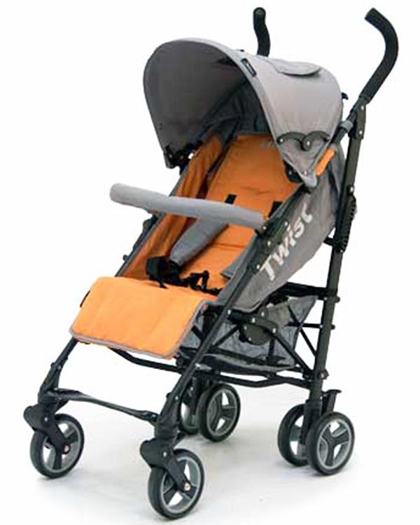 Коляска трость Twist, Orange/GreyДетские коляски Capella Jetem, Baby Care<br>Коляска трость Twist, Orange/Grey<br>