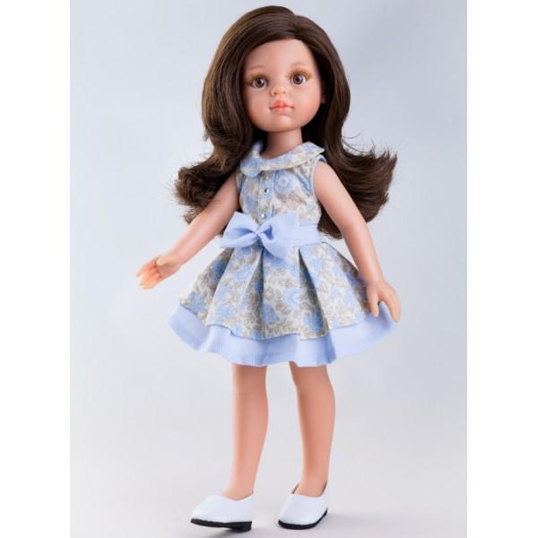 Кукла Кэрол в голубом платье, 32 см.Испанские куклы Paola Reina (Паола Рейна)<br>Кукла Кэрол в голубом платье, 32 см.<br>