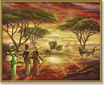 Африка, 40*50 смРаскраски по номерам Schipper<br><br>
