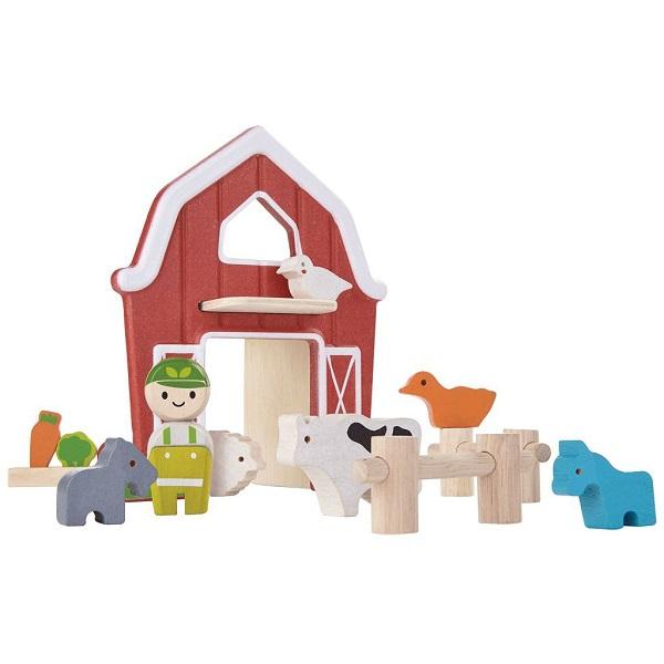 Купить Игровой набор – Ферма, с фигурками и грядками, Plan Toys