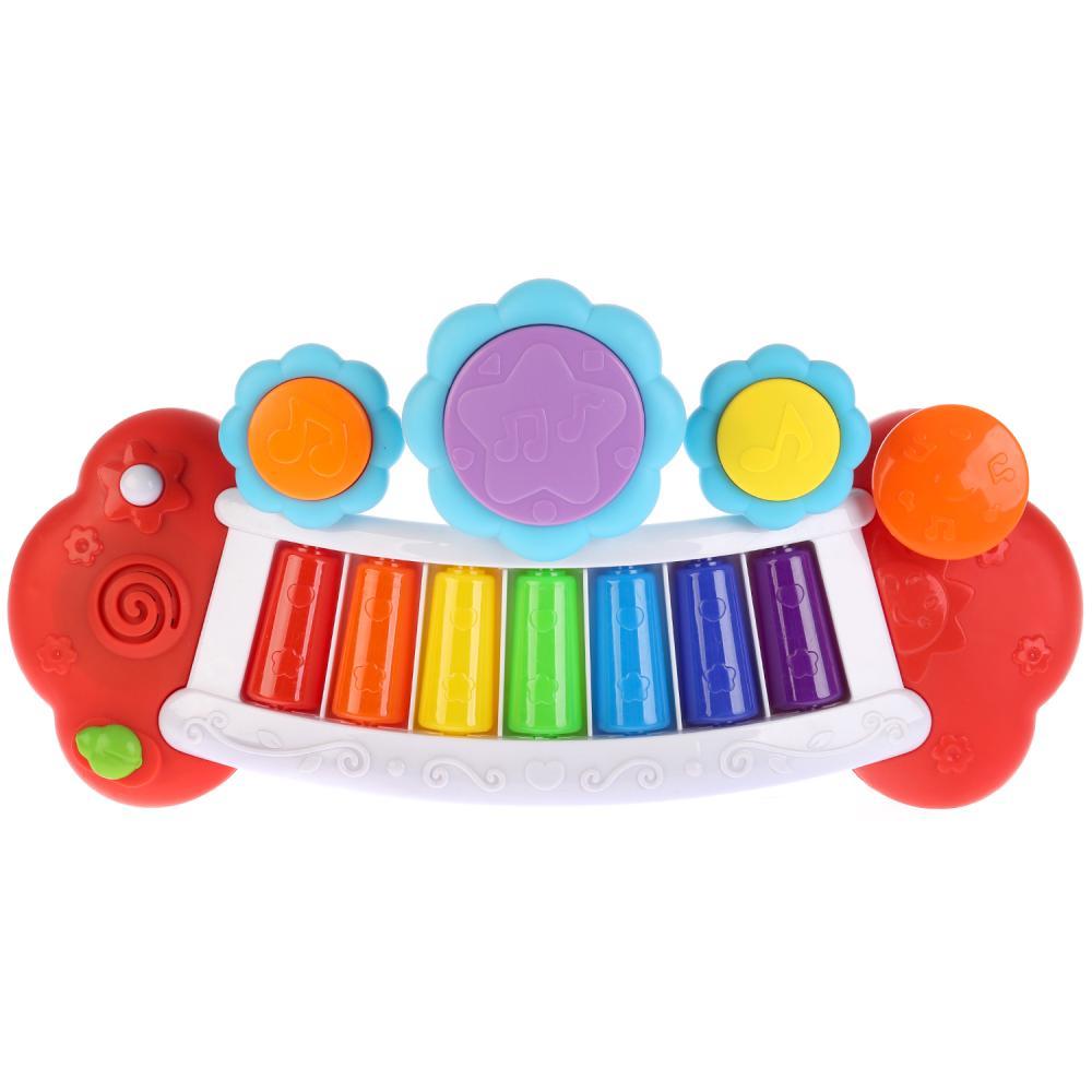 Купить Обучающее пианино, 24 стихотворения и песни А. Барто, со светом, Умка
