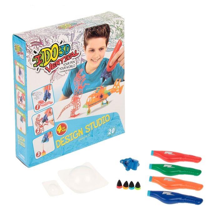 Ручка 3D Вертикаль с 4 картриджами и трафаретами  Дикие забавы - Детский 3D принтер QIXELS, артикул: 165517