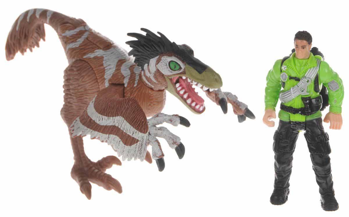 Набор - Ютараптор и охотник со снаряжениемЖизнь динозавров (Prehistoric)<br>Набор - Ютараптор и охотник со снаряжением<br>