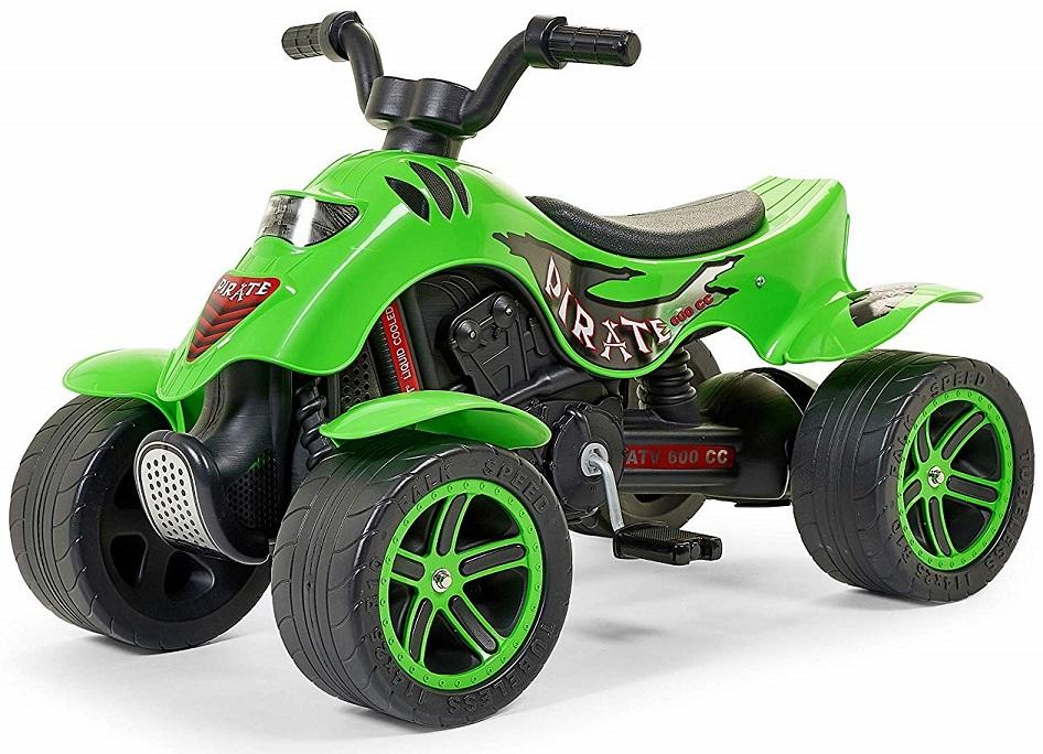 Квадроцикл зеленый, педальный 84 см