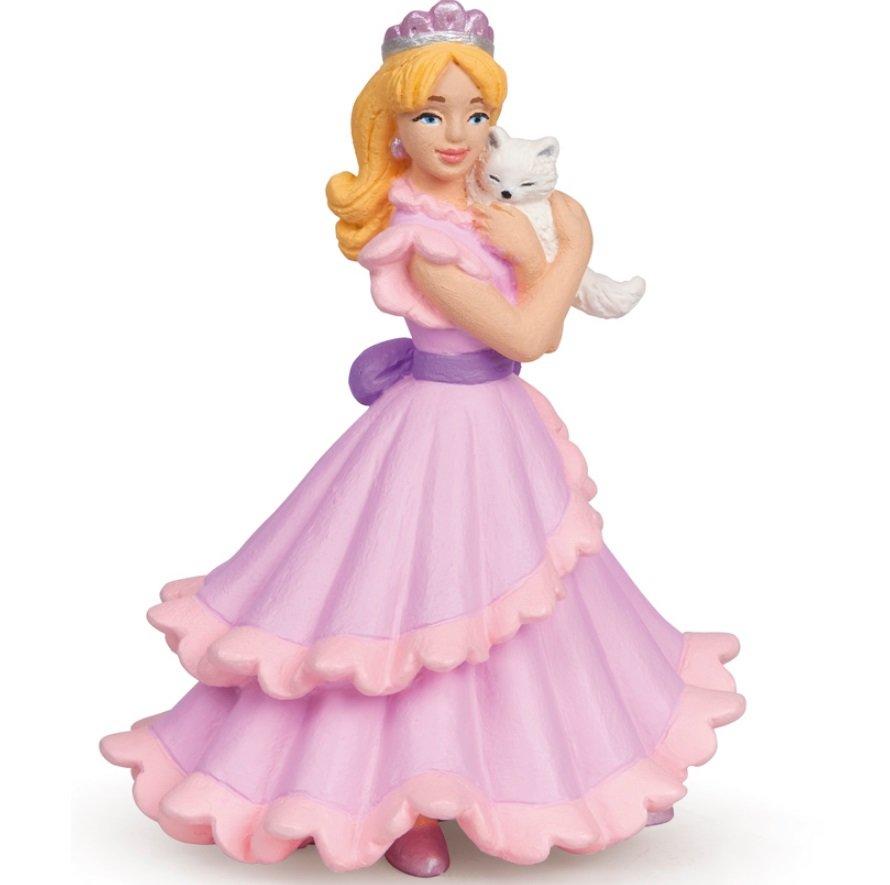 Купить Фигурка - Принцесса с кошкой, 7 х 10 х 8 см., Papo