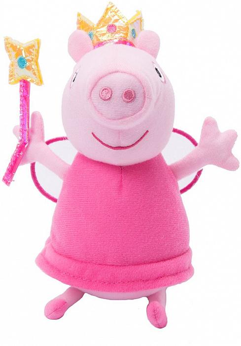 Купить Мягкая игрушка Peppa Pig™ - Пеппа Фея с палочкой, 20 см, Росмэн