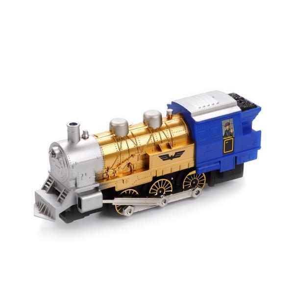 Железная дорога с платформой, 282 см, свет, звук и дым - Детская железная дорога, артикул: 171819